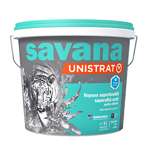 savana UNISTRAT vopsea superlavabila, superalba, pentru interior, cu Ti-Pure™ One Coat